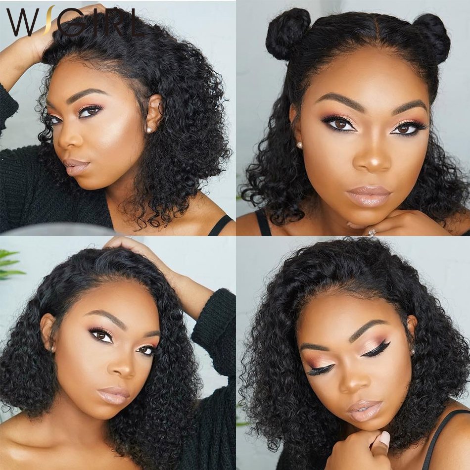 Wigirl Malaysian Curly Short Lace Front Human Hair Wigs