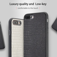 Wangcangli Genuine Leather Phone Case For IPhone 7P Crocodile Texture Back Cover For IPhone SE 5