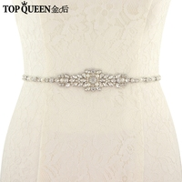 TOPQUEEN FREE SHIPPING S379 Rhinestones Wedding Belts Wedding Sashes Pearls Bridal Belts Bridal Sashes Fast Delivery