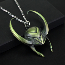 The Avengers Series Jewelry Loki God Of Mischief Necklace Metal Helmet Pendant Movie Necklaces For Men
