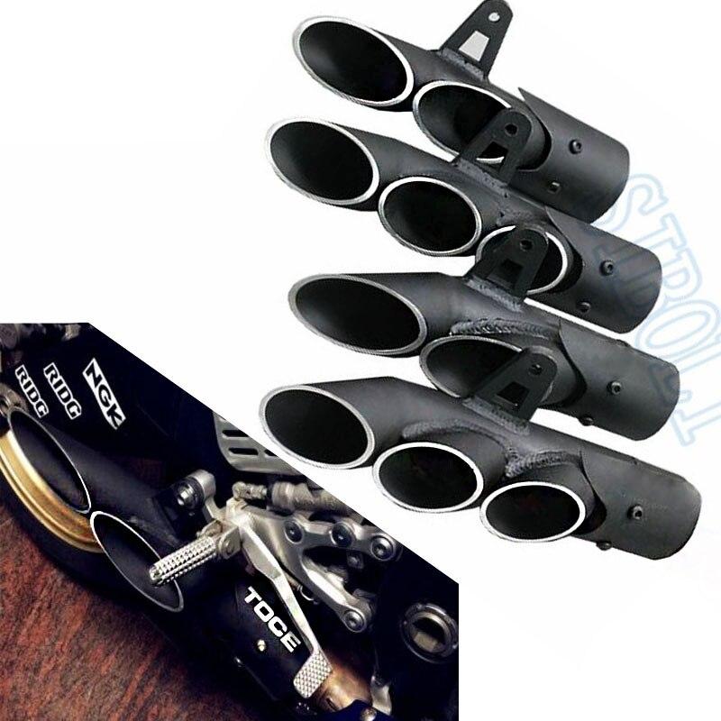 Modifiées universelles Moto Tuyau D'échappement Silencieux Pour YAMAHA R1 R6 R15 FZ1 MT09 TOCE Glisser Sur Course Échapper Moto Silencieux YA013