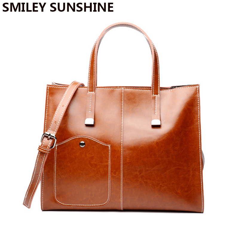 SMILEY SUNSHINE fashion women leather handbag genuine leather women bag female shoulder bag casual tote brown ladies hand bags chinese style genuine leather bag women handbag embroidery ethnic summer fashion handmade flowers ladies tote shoulder hand bags