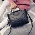 LEFTSIDE Nueva Negro Vintage PU Bolsos de Cuero Del Diseñador Mujeres Messenger Bags Totes Crossbody bolsa de Hombro Bolsa de mano Para Damas