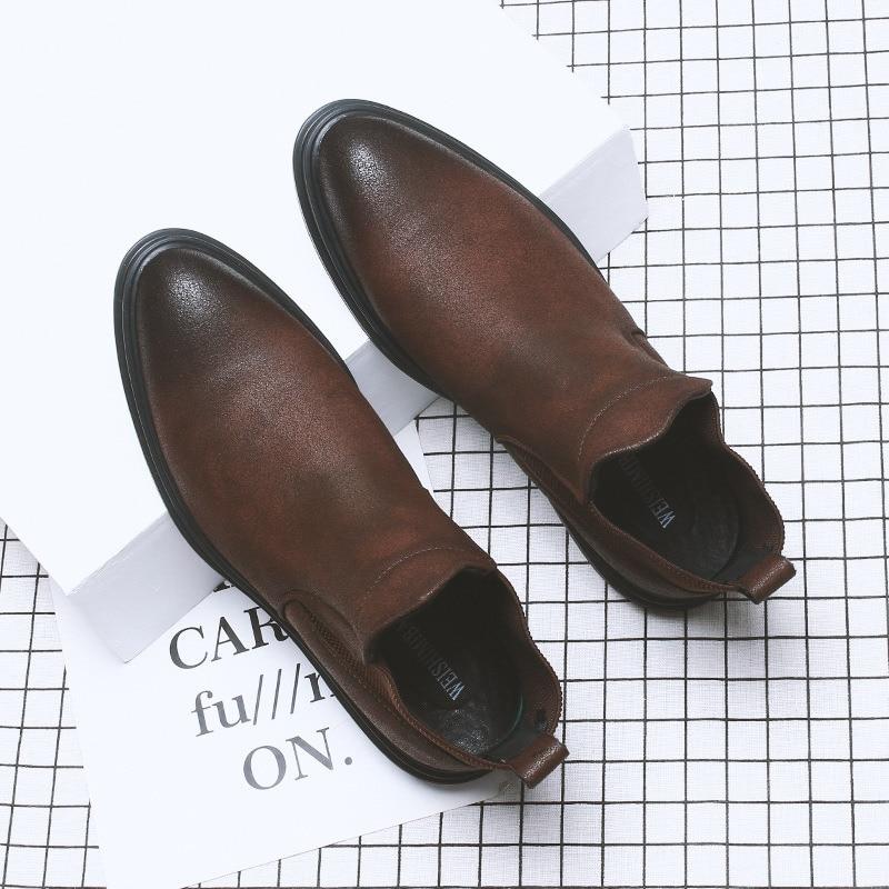 De Hommes Chaussures Mariage Bottes Carré Brown Sur Homme TK1F3uJlc