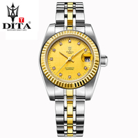 DITA Clássico Amante de Luxo Dress watch 40mm Oyster Perpetual Totalmente dourado mecânico automático relógio de pulso relogio masculino