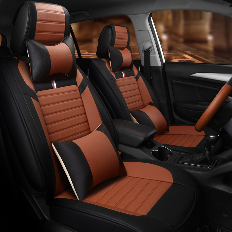 New! Full set car seat covers + Steering wheel cover for Ford Fusion 2018-2013 durable seat covers for Fusion 2017,Free shipping