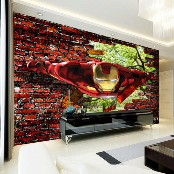 Aliexpress.com : Buy 3D Iron Man Wallpaper Avengers Photo Wallpaper Custom Wall  Murals Kids Boys Bedroom Decor Superhero Movie Interior Design Trees From  ... Part 55
