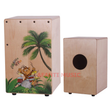 Afanti Music Birch Wood / Natural Cajon Drum (KHG-179)