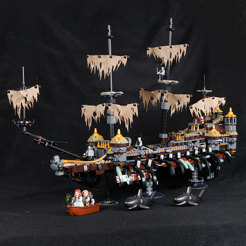 LEPIN 16042 Pirates of The Caribbean Movie Captain Jack Silent Mary Building Block Toys Compatible with Lepins Pirates Caribbean kazi 608pcs pirates armada flagship building blocks brinquedos caribbean warship sets the black pearl compatible with bricks