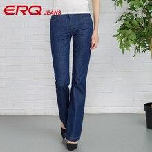 ERQ Women Jeans Femme Slim Straight High Waist Cotton Plus Size Denim Jeans Womens Pants For Women Alta Jeans 906002