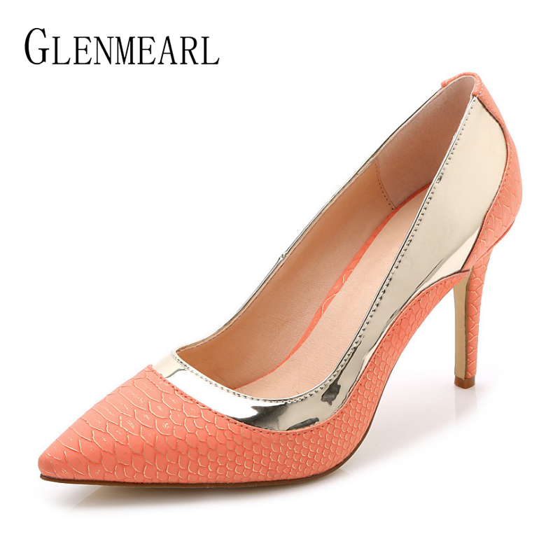 Black Women Shoes High Heels Sexy Snake Pumps Woman Pointed Toe Stilettos Female Wedding Shoes Spring Autumn Band Large Size DE woman shoes high heels brand women pumps tassel fashion office lady dress shoes black spring autumn pointed toe female pumps de