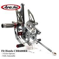 Arashi CBR600RR CNC Billet Rider Adjustable Footrest Foot Pegs For HONDA CBR 600 RR 2007 2008 Rear Foot Rest Rearsets