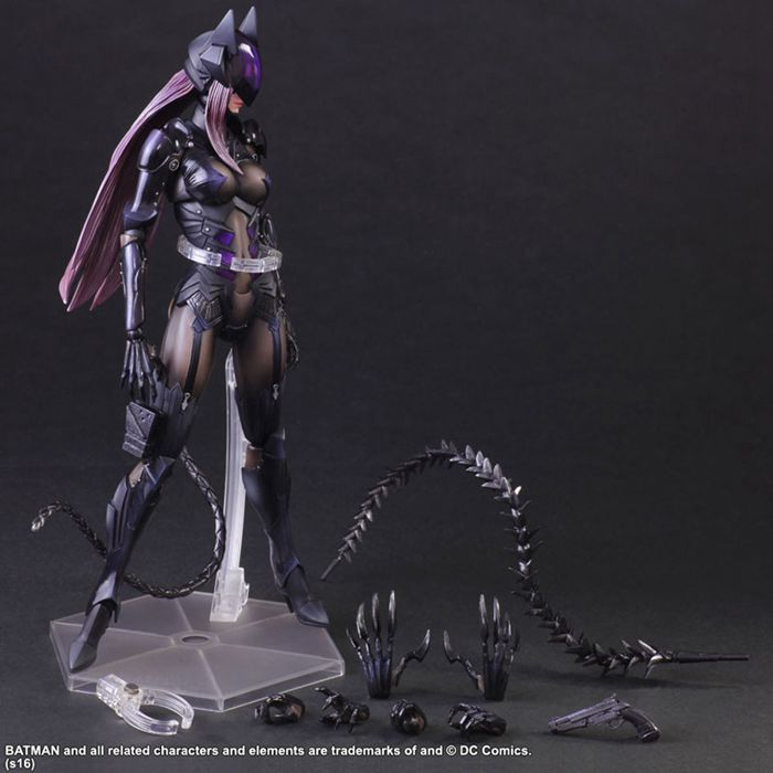 Catwoman Action Figure Playarts Kai Collection Model Anime Toy Movie Bat Man Play Arts Kai Catwoman 270mm