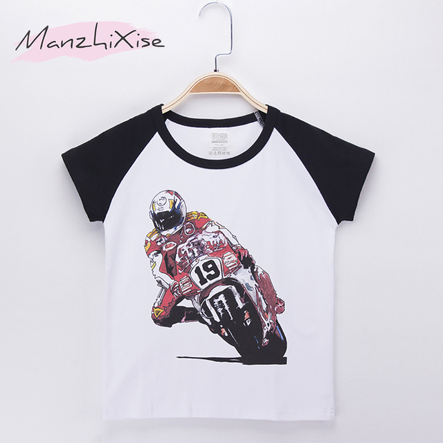 2018 Kids T Shirt For Children Motorcycle Racing Show Print O Neck