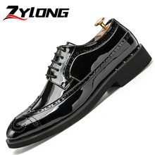 Formal Shoes Men Sequin Leather Oxford for Brogues Office Lace Up Male Luxury Gentlemen Black Gold Silver