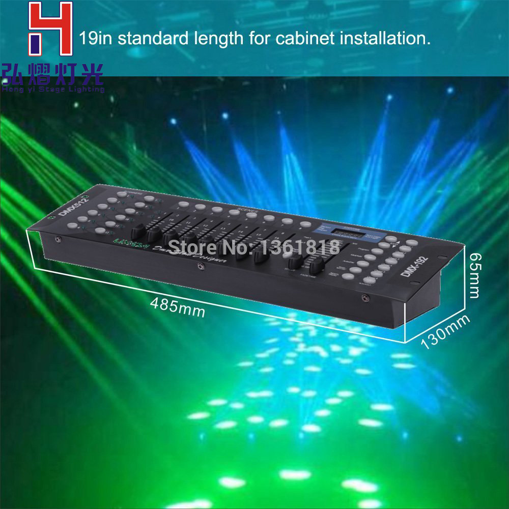 где купить Hong Yi Stage Lighting high quality 192 dmx controller dj equipment console for mini led moving head led par laser light дешево