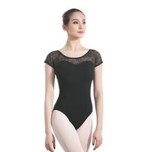 ballet leotard gymnastics ballerina adult short sleeve lace leotards dance wear woman