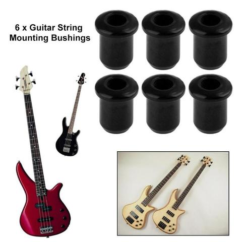 6pcs Metal String Mounting Ferrules Bushings for Electric Guitar Parts Silver Islamabad