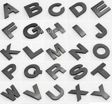 Черная высота 26 см буква алфавита Автомобильная эмблема Буквы