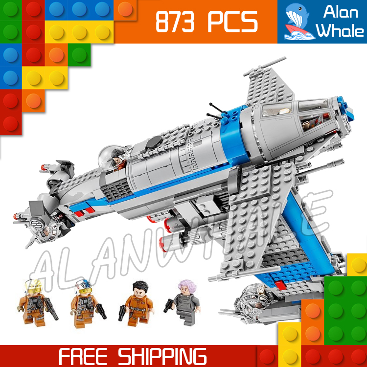 873pcs Space Wars Resistance Bomber Spaceship Set 05129 Figure Building Blocks Assemble Boys Toy Games Compatible With LegoING