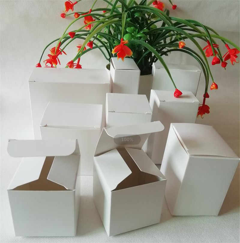 High Quality White Gift Boxes Paper Jewelry Packaging Box Small Kraft Packing Box Craft Cardboard Soap/Candy Box Carton 5pcs/lot