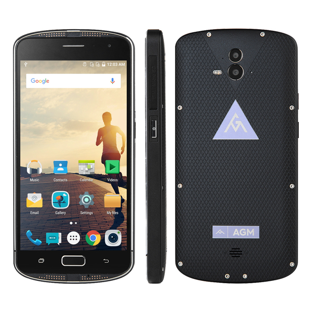 IP68 Waterproof Phone AGM X1 Qualcom Snapdragon 617 Octa Core 5.5 Inch Smartphone 4GB RAM 64GB ROM Quick Charge 3.0 A2 Rio