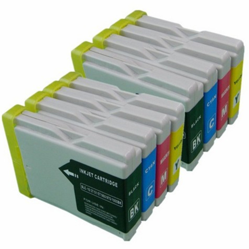 2set LC10 LC37 LC51 LC57 LC960 LC970 LC1000 Ink Cartridge For Brother DCP-130C DCP-135C MFC-235C MFC-240C 750CN 750CW 465CN