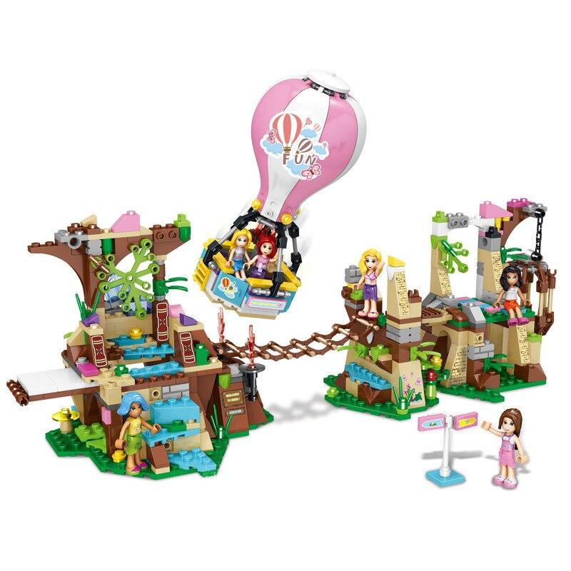 648pcs Children s educational building blocks toy Compatible Friends city girls Forest adventure DIY figures Bricks