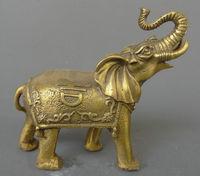 China peace auspicious feng shui brass wealth elephant statue