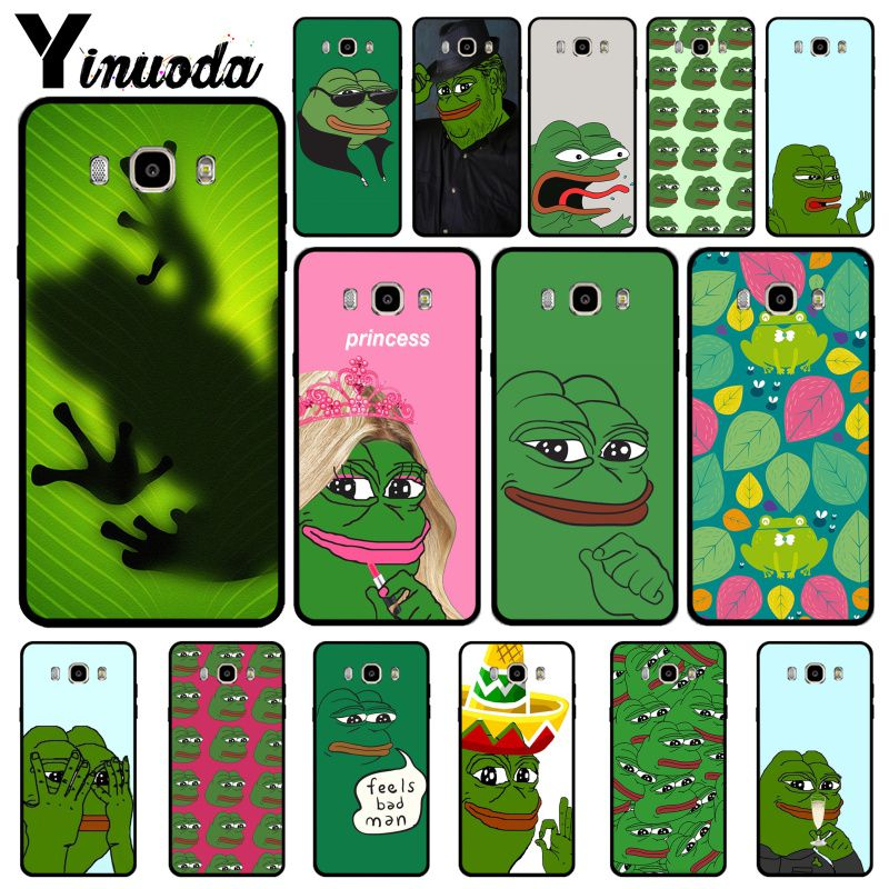Yinuoda the Frog meme pepe Hot Selling Fashion Design Cell Case For Samsung J6 2018 J7 2018 J4 2018 J7 2017 J8 2018 Coque Shell image