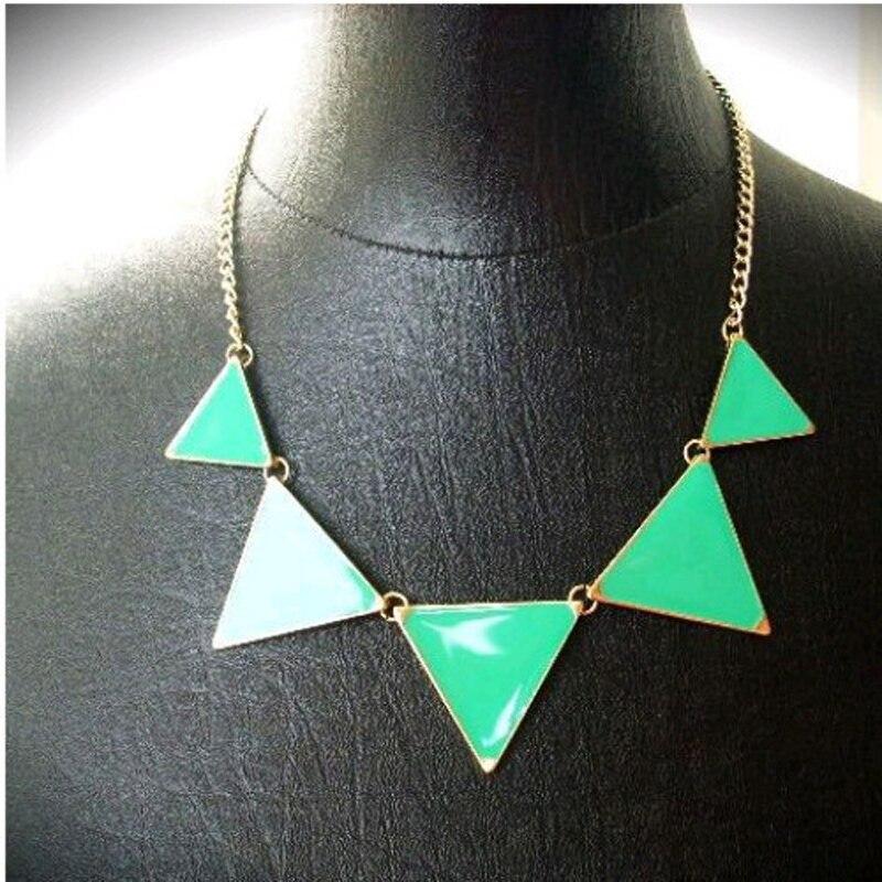 Collar de triángulo geométrico negro caliente Collar de gargantilla - Bisutería - foto 3