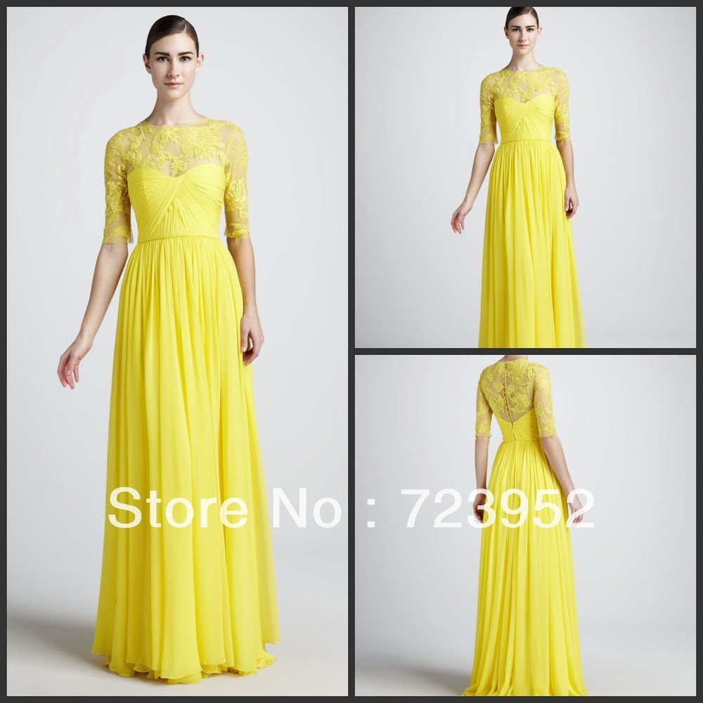 Pale Yellow Lace Bridesmaid Dresses - Wedding Dress Ideas