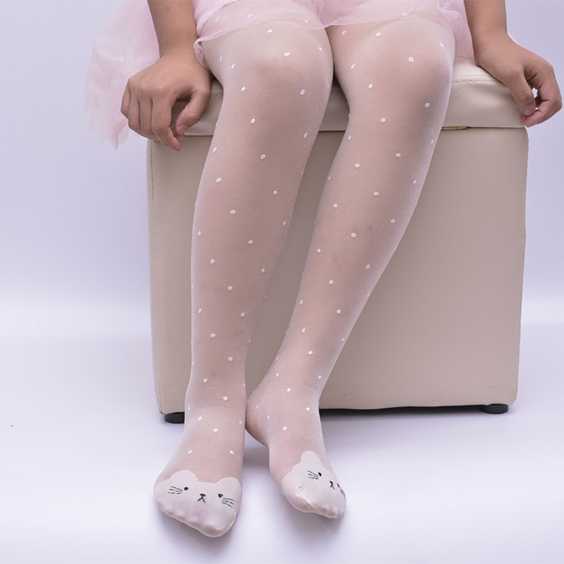 ZIKA 2017 Summer Lace Baby Girls Tights Chracter Children Girls Stockings Silk Candy Colors Baby Tights Pantyhose lovely Dot Cat ...
