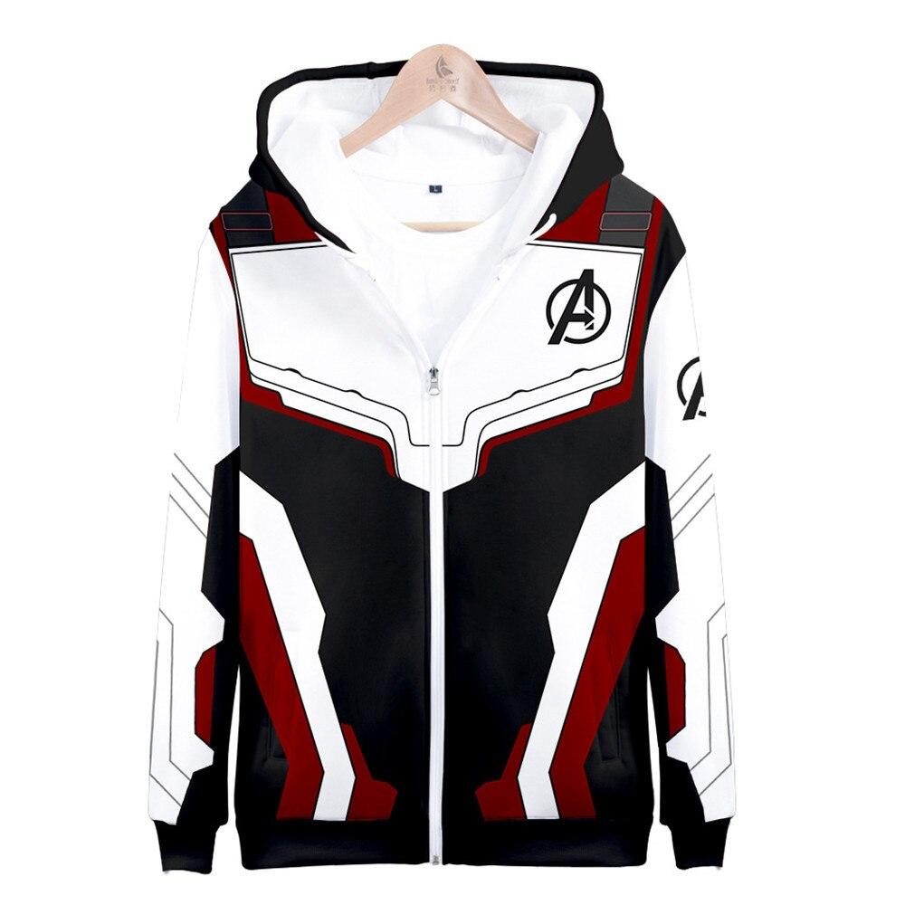 Avengers Endgame Quantum Realm Sweatshirt Jacket Advanced Tech Hoodie Cosplay Costumes  new superhero Iron Man Hoodies suit