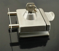 High Quality Qrignal Best Selling 304 Stainless Steel Glass Door Lock With Keys