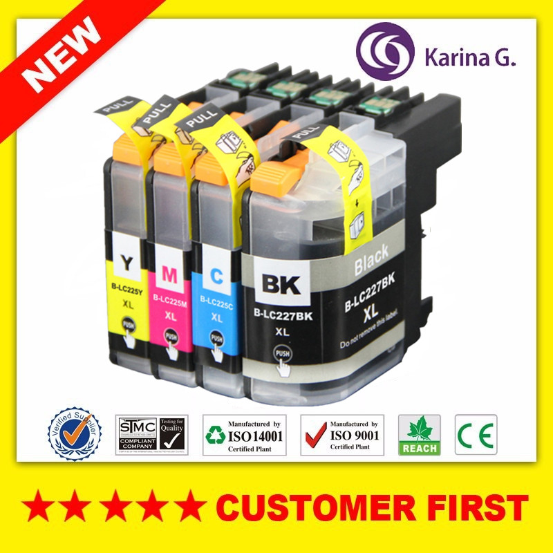 Compatible Ink Cartridge for LC227XL LC225XL LC227 LC225 suit For Brother DCP-J4120DW MFC-J4420DW MFC-J4620DW MFC-J4625DWCompatible Ink Cartridge for LC227XL LC225XL LC227 LC225 suit For Brother DCP-J4120DW MFC-J4420DW MFC-J4620DW MFC-J4625DW