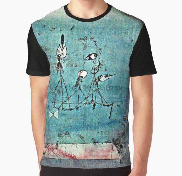 Twittering Machine >> All Over Print T Shirt Men Funny Tshirt Paul Klee Artwork Twittering Machine Graphic T Shirt