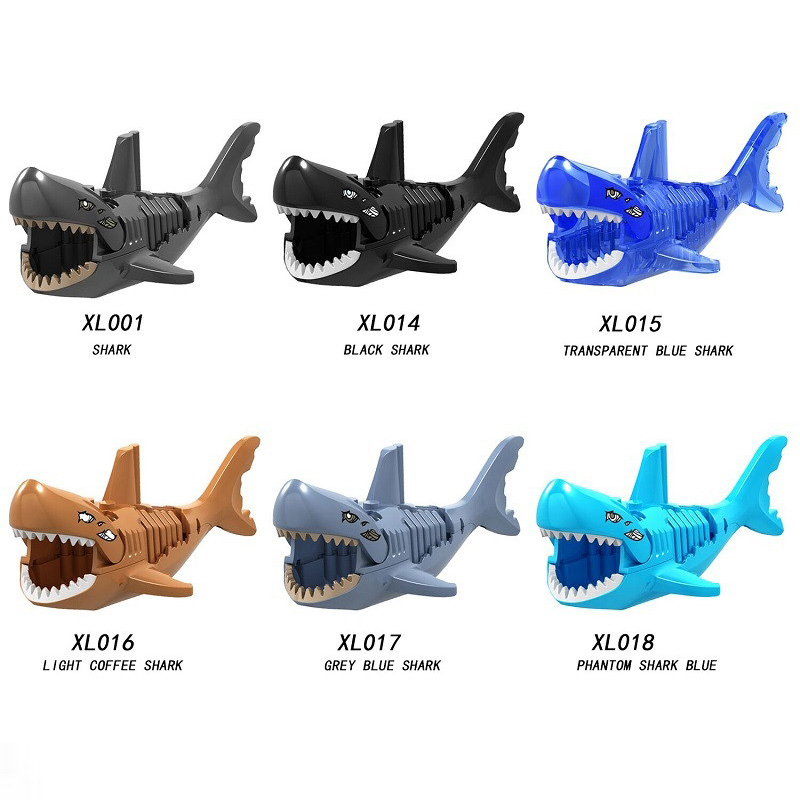 Various The Caribbean of Pirates Ghost Zombie Sharks Model Building Blocks Enlighten Figure Toys For Children Compatible Legoe