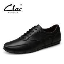 CLAX Men's Leather Shoes Genuine Leather Autumn Shoe for Male 2017 Designer Flats Footwear Leisure Shoe Handmade Brand Soft