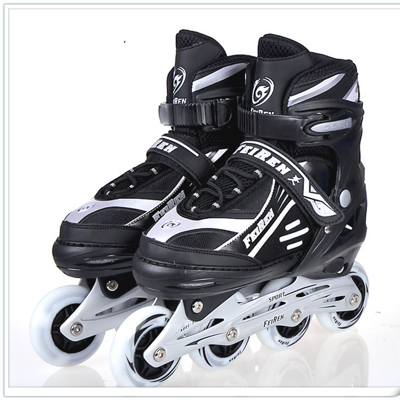 NEW Inline Professional Women Adult Men Slalom Sliding Ice Skates Skating Shoes Adjustable Washable Rubber wheels Adulto inline professional women adult slalom sliding ice skates skating shoes adjustable washable 85a flash pu wheels panties adulto