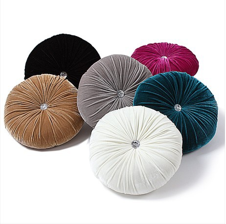 #664 Pure velvet diamond 40CM round pumpkin cushion with filling red white sofa bed car home room Dec wholesale