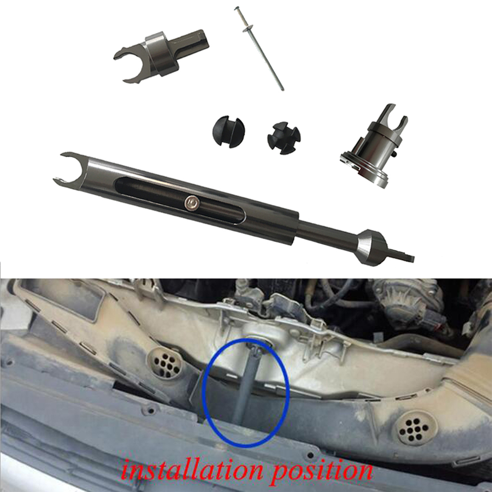 alloy bonnet release lock tie rod repair kit hood lock latch front grille connect refitting accessories for ford focus mk2 C-MAX