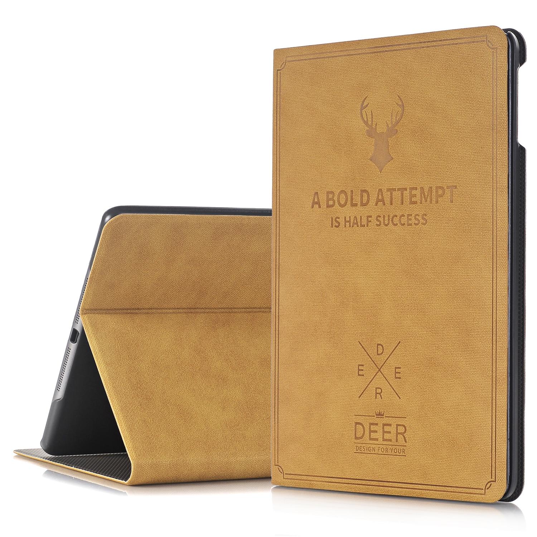 For Apple iPad Air/iPad Air 2 Case Smart Shell Auto Wake/Sleep Folio Folding Stand Deer Design Protective Case Cover аксессуар чехол odoyo aircoat folio hard case для ipad air silver pa532sl