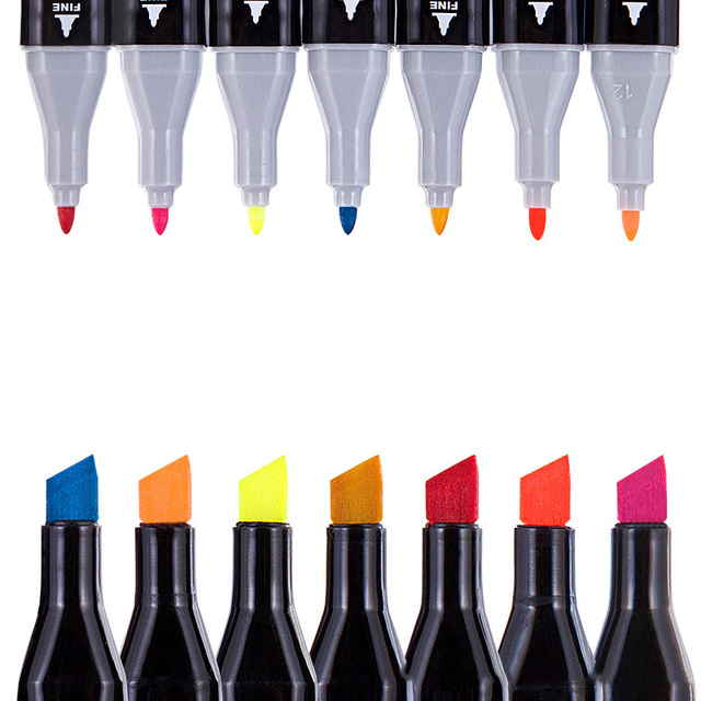 Touchthree Single Art Marker 168 Colors Dual Head Alcohol Based Sketch Markers Brush Pen For Artist Drawing School Art Supplies 3