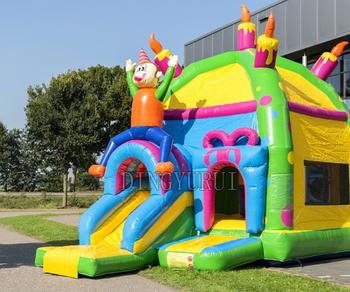 Komercyjny bramkarz dom nadmuchiwana trampolina nadmuchiwany domek do skakania tanie i dobre opinie Plac zabaw na świeżym powietrzu NoEnName_Null 3 lat Nadmuchiwany plac zabaw dla dzieci Duża trampolina XZ-BH-048 Inflatable bouncer