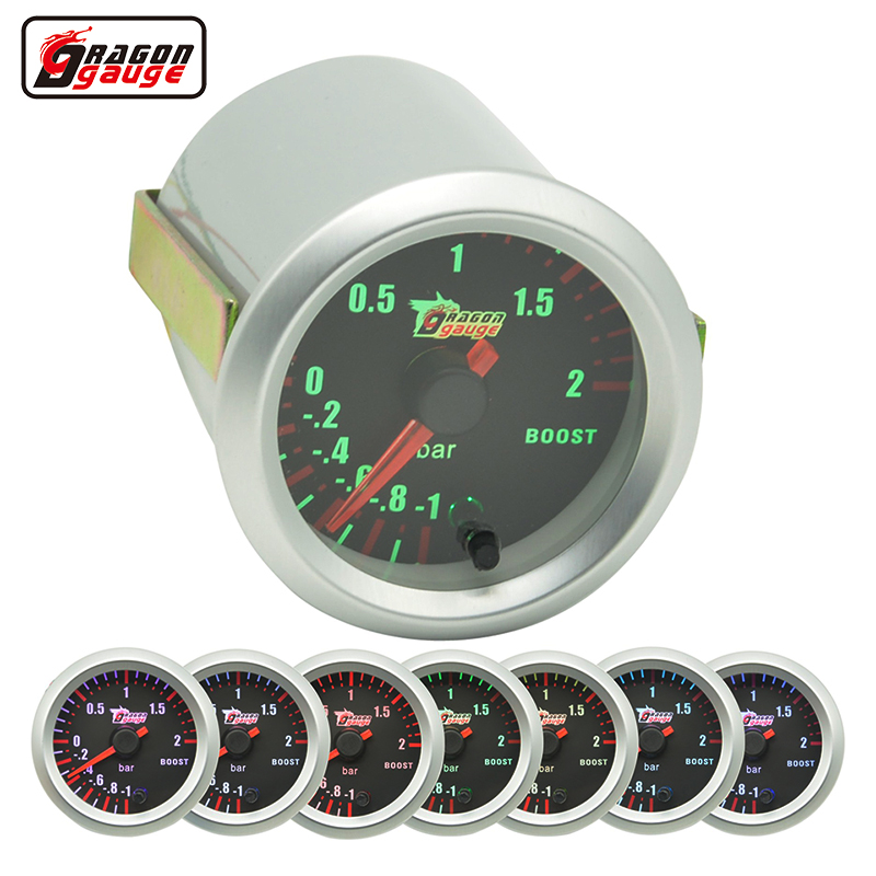 Dragon gauge 52mm Stepping moto Auto Car Turbine pressure 7 Color Blacklight Auto Boost gauge Turbo Meter -1~2 Bar 1 6mpa pressure gauge y 103bfz page 7