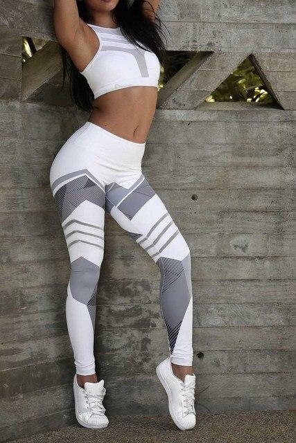High Elastic Printing Women Fitness Leggings Push Up Pants 5
