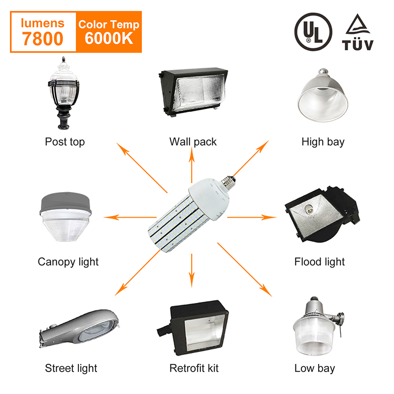 3 Years Warranty LED Lamp Base E26 E27 60w For Street Kictchen Warehouse Daylight Aluminum Plate LED Corn Bulb p10 real estate project hd clear led message board 2 years warranty