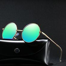New Mens Polarized Sunglasses Sexy Woman Fashion 2019 Metal Round Frame Prince Mirror Colorful Ladies Retro Wild Tide Glasses