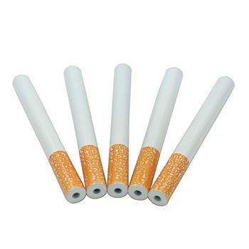 W kształcie papierosa szerszeń szlifierka metalowa rura fajka jeden Hitter fajka do tytoniu filtr kłamca tabaco sniffer stojak na fajkę tanie i dobre opinie Proste typu MA53